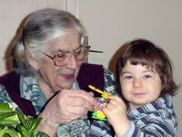 Vanja sa Prababom na njen 90ti rođendan