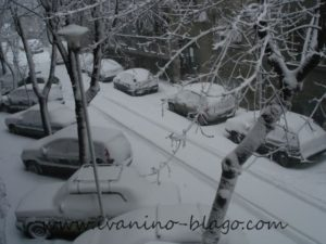 Sneg u sred zime